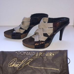"Donald J Pliner made in Spain braided 5"" platforms"